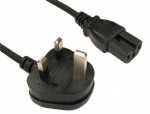 Power Cable UK Mains Fused Plug to IEC C15 Female Socket 13 Amp