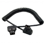 COILED D-TAP Cable for DSLR Rig cable fr Anton Bauer Battery
