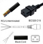 AC Power Cord ROJ to IEC 60320 C19 Connector  H05VV-F 1.5