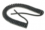 Black Coiled Curly Mains Cable 13 Amp 3 Core 1.25mm Cable