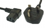 Right Angled Angle Kettle Type IEC Mains Power Cable Lead