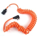Sjt Orange Coiled Power Tool Cord