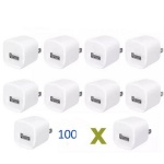 White 1A Cube USB Power Adapter AC Home Wall Charger US Plug for iphone