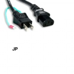 6Ft 3 Prongs AC Power Cord IEC320 C13 To JP Japan JIS8303