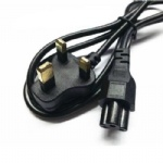 3 Prong UK plug Laptop PC AC Power Cord Cable