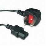 UK 3 Pin IEC C13 Mains Wall Power Kettle PC Monitor  Cable Lead Plug Cord