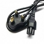 Power Cord 3 Prong UK plug Laptop PC AC Power Cable