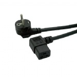 European 3Pin male schuko to Left Angle IEC 320 C19 16A Power cord